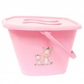 Ведерко для использованных подгузников Maltex, Жирафка розовое