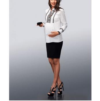 Юбка для беременных Dianora черная габардин 1278 0195