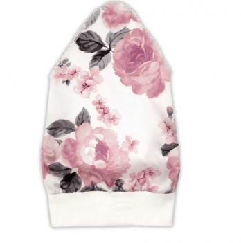 Косынка для девочки Garden baby, белая в розы, 43602-35