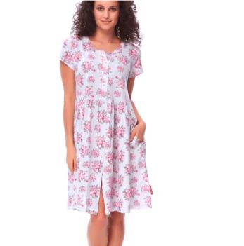 Домашнее платье для беременных и кормящих женщин Dobranocka TCB.9613 sweet pink