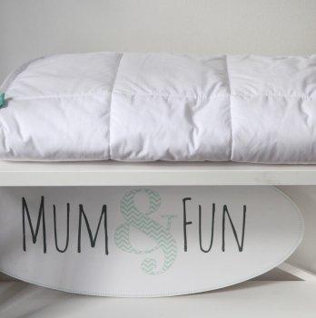 Белое детское одеяло Mum and fun, зимнее