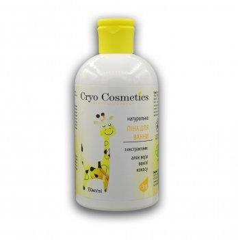 Детская пена для ванн Cryo Cosmetics, с экстрактами ванили, алоэ вера и кокоса, 350 мл