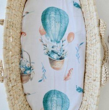 Муслиновая пеленка Embrace Зайки на шарах 100х80 см
