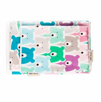 Комплект постельного белья в кроватку Cotton Living Funny Bears Pink