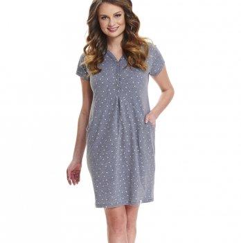 Домашнее платье Dobranocka TCB.9453 dark grey