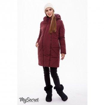 Пальто для беременных Angie MySecret OW-49.032 Марсала
