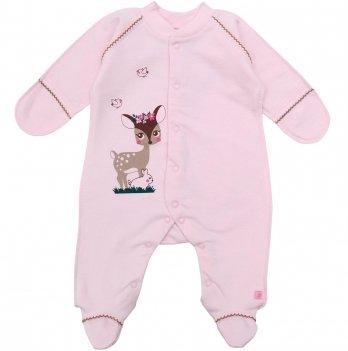 Человечек для новорожденных Minikin Малышка Лань розовый