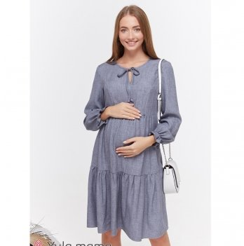 Платье для беременных и кормящих MySecret Jeslyn DR-49.122 джинсово-синий меланж