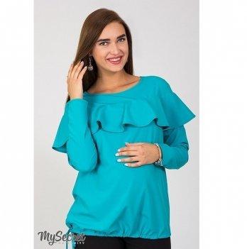 Блуза для беременных и кормящих мам MySecret Avril BL-37.031 морская волна