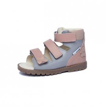 Босоножки ортопедические кожаные открытый носок Ortho Cyborg 1199-40, ярко-розовый