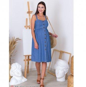 Сарафан для беременных и кормящих MySecret Tina Джинсово-синий SF-20.043