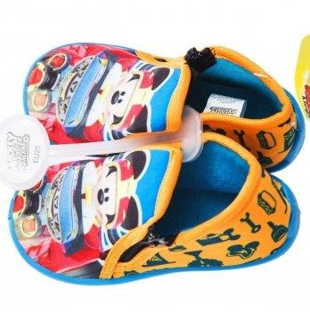 Тапочки на молнии Disney Микки и веселые гонки, оранжевые/голубые