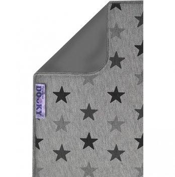 Одеяльце двустронее, Original Dooky, Grey Stars