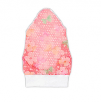 Косынка для девочки Garden baby, розовая в бантик, 43602-35