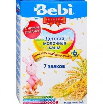 Каша 7 злаков Kolinska Bebi PREMIUM, молочная 200 г
