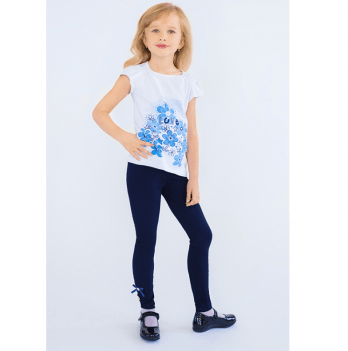 Лосины для девочки Модный карапуз, синие