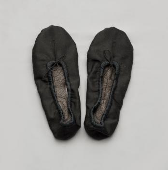 Балетки для танцев Модный карапуз, черные