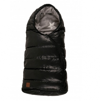 Конверт тёплый из супер мягкого флиса Kaiser Eskimo, 68х35 см, звездный, черный