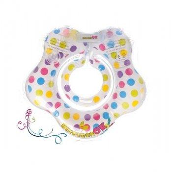 Круг для купания Kinderenok Confetti Белый в горошек 240913