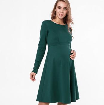 Классическое платье MySecret, для беременных и кормящих, зеленый Lianna warm DR-48.162