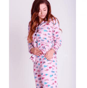 Пижама женская Pjmood розовая с принтом