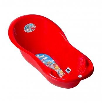 Ванночка детская с термометром Tega baby Авто Красный 102 см CS-005-121