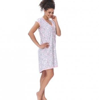 Ночная сорочка для беременных и кормящих женщин Dobranocka TM.9620 light pink