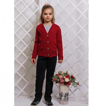 Кардиган для девочки Модный карапуз, бордовый