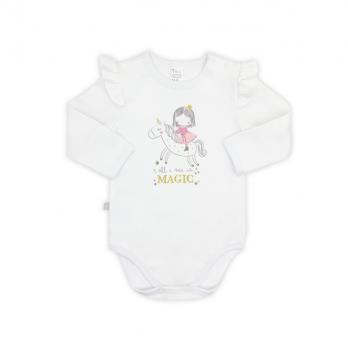 Боди-футболка для девочки SMIL, возраст от 6 до 18 месяцев, белый с принтом