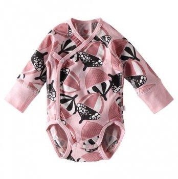 Боди для новорожденных Reima Pentu, светло-розовый с рисунком