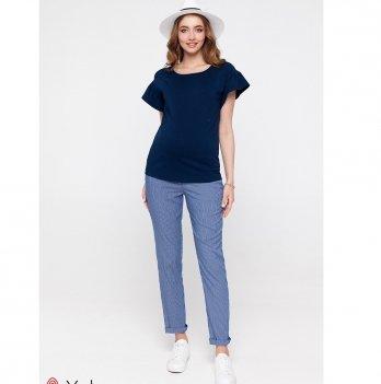 Штаны для беременных MySecret Melani Сине-белый TR-20.012