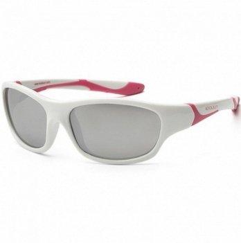 Детские солнцезащитные очки Koolsun серии Sport, размер 3+, бело-розовые