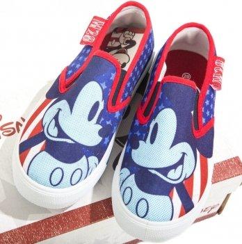 Слипоны для мальчика Disney Микки Маус (Mickey), синие