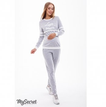 Cпортивный костюм для беременных и кормящих MySecret Benji ST-39.041 серый меланж