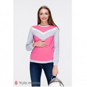 Свитшот для беременных и кормящих MySecret Deni SW-39.022 Розовый
