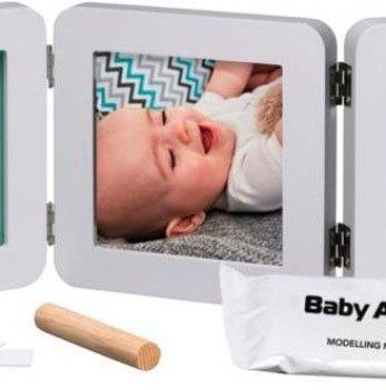 Фоторамка с набором для создания отпечатков Baby Art тройная, пастель