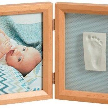 Фоторамка с набором для создания отпечатков Baby Art двойная, натуральная