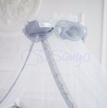 Балдахин Маленькая Соня Mon Cheri 052552 белый с серым