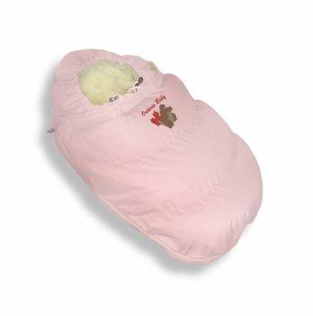 Пуховый конверт-трансформер Alaska Size control Ontario Baby Зима ART-0000060 розовый