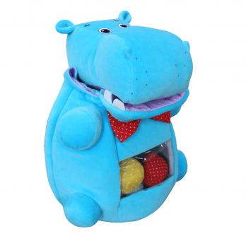 Мягкая развивающая игрушка Macik Бегемот-открой рот МС 090102-02 Голубой
