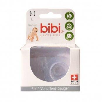 Соска bibi® Варио 3 в 1, к бутылочке из стекла