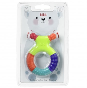 Прорезыватель для зубов и развивающая игрушка, bibi®, Кольцо, 6+ мес