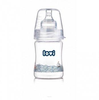 Бутылочка стеклянная Lovi Diamond Glass, Marine, 150 мл