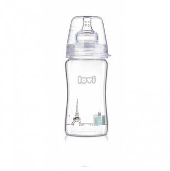 Бутылочка стеклянная Lovi Diamond Glass, Retro boy, 250 мл