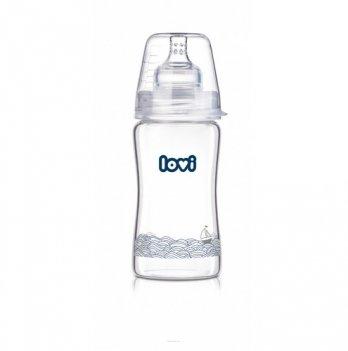 Бутылочка стеклянная Lovi Diamond Glass, Marine, 250 мл