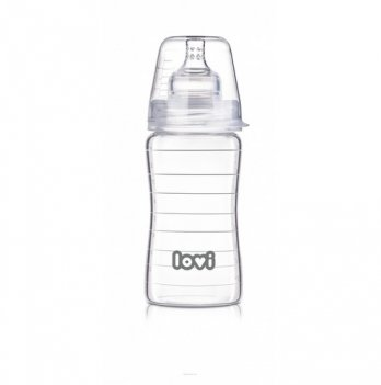 Бутылочка стеклянная Lovi Diamond Glass, 250 мл
