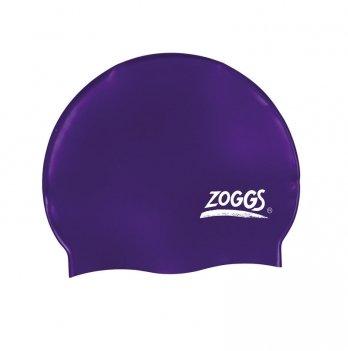 Шапочка для плавания Zoggs Silicone Cap, фиолетовая