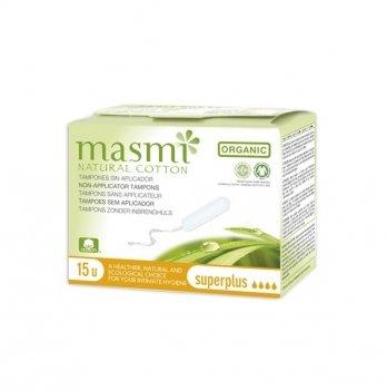 Органические тампоны Masmi, Super Plus без аппликатора, 15 шт.