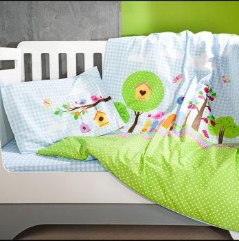 Комплект детского постельного белья ранфорс Bird Garden Idea 8-11650 3 предмета