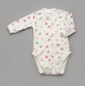 Боди интерлок Короны Модный карапуз 301-00041 серо-розовый